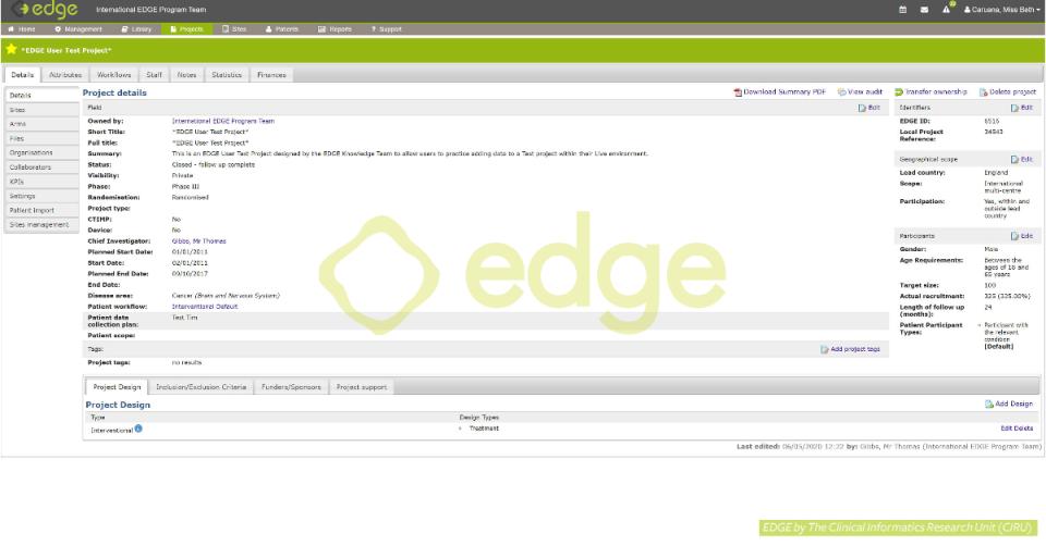 EDGE project level