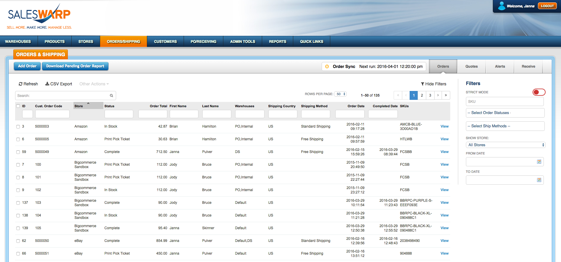 SalesWarp Software - 3