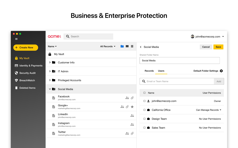 Keeper Business screenshot