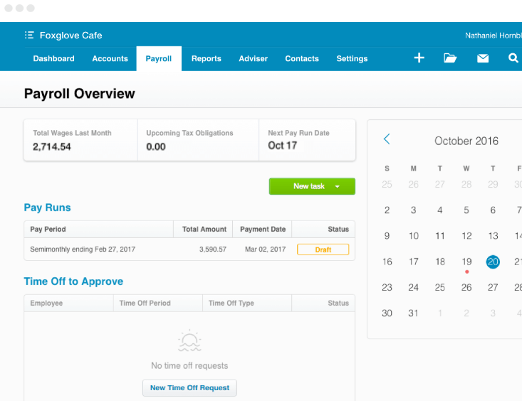 Xero payroll overview