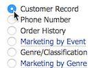 ThunderTix screenshot: Customer Database - Search Options and Marketing Tools