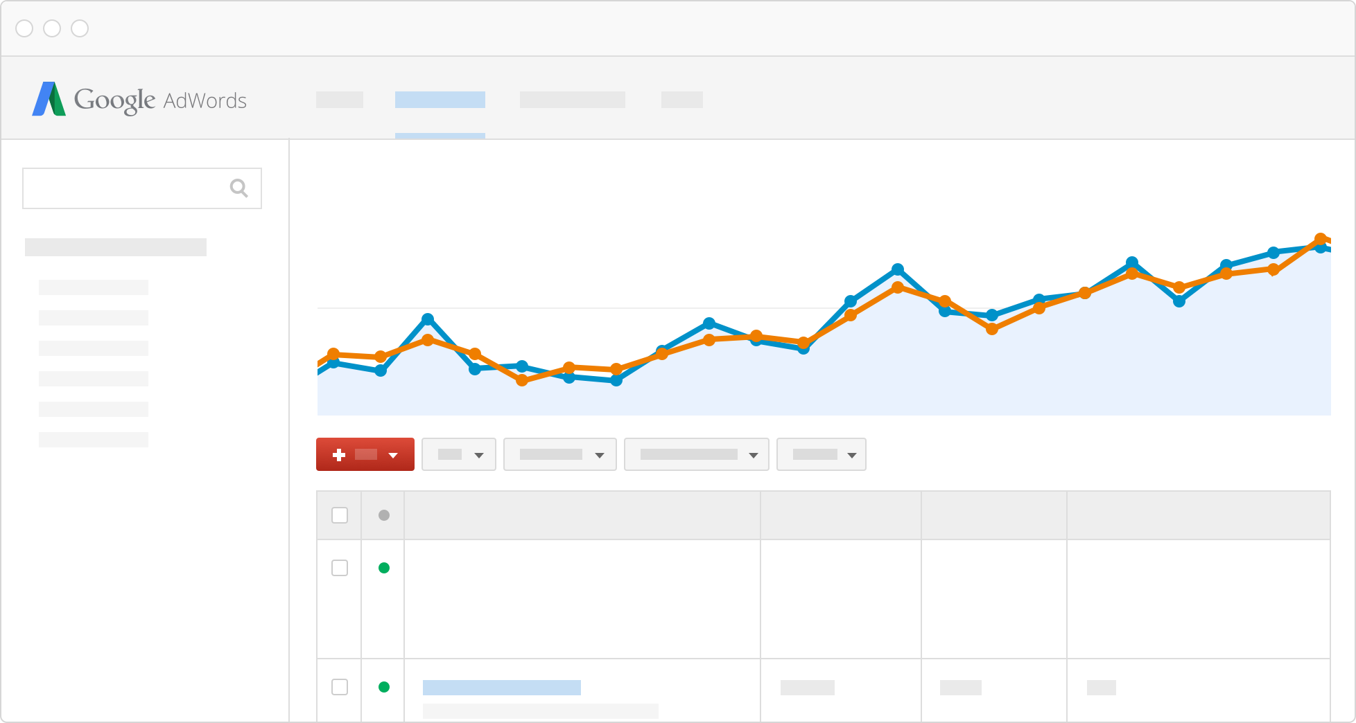 Track costs and clicks in Google AdWords