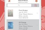 AUTOsist screenshot: Create service records & attach receipts