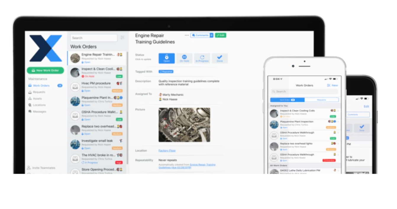 Collaborate with frontline teams through comments and in-app messages