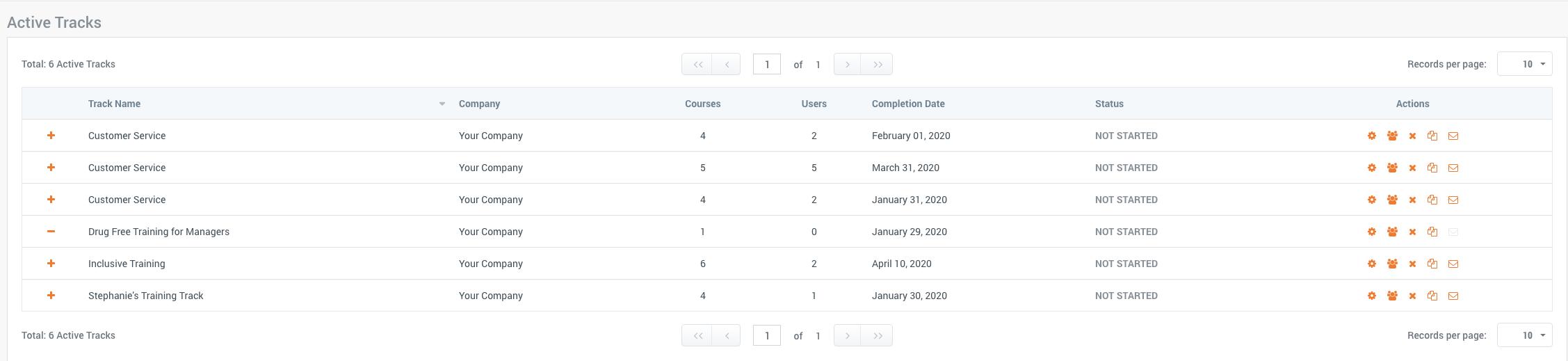 tryHRIS digital progress tracking & certificate dashboard