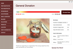 DoJiggy Pledge screenshot: General donations to the overall event total are also supported