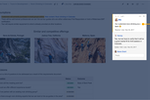 Confluence screenshot: Use in-line comments to provide contextual feedback on projects and pages