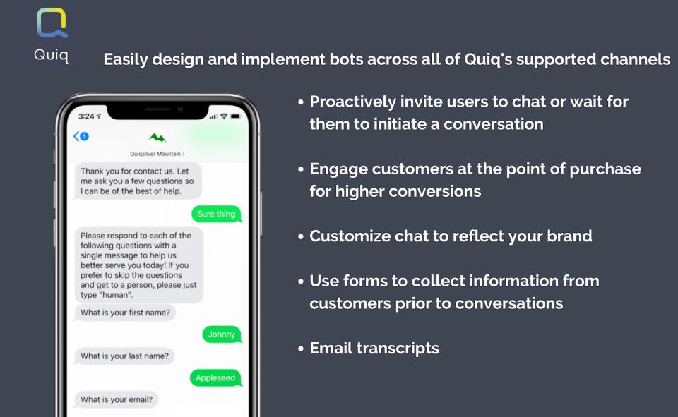 Quiq Messaging Logiciel - 3