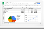 Captura de pantalla de Google Workspace: Create and edit spreadsheets from any device