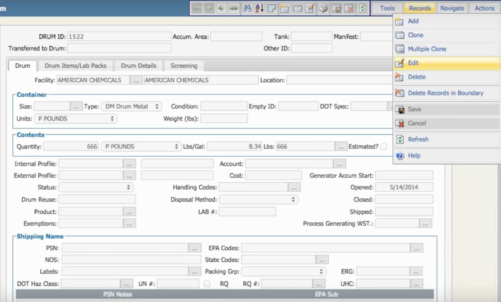 Edit product data