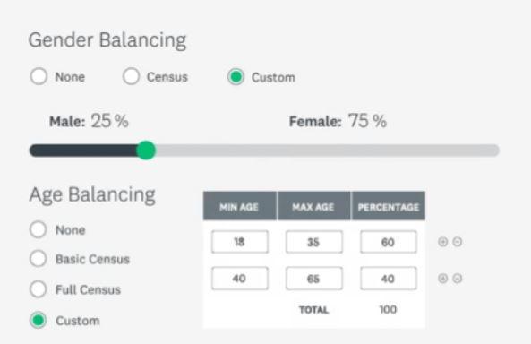 SurveyMonkey Audience choose target audience