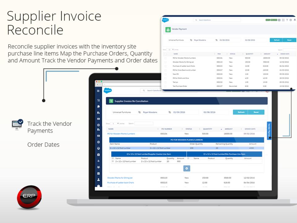 Supplier invoice reconcile