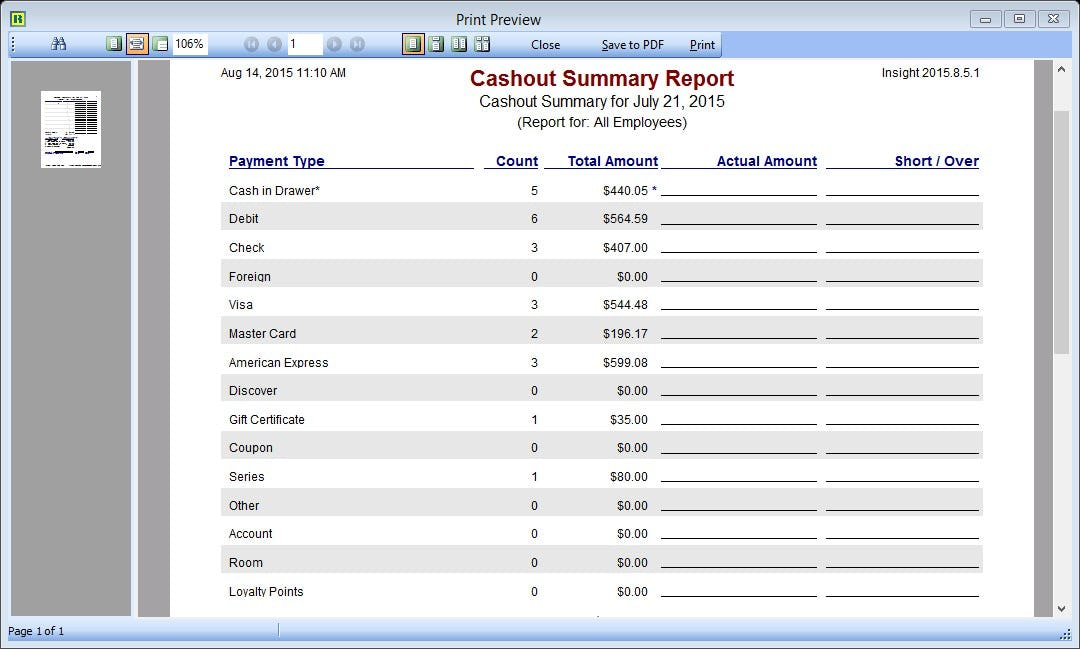 Insight Software - Financial reporting