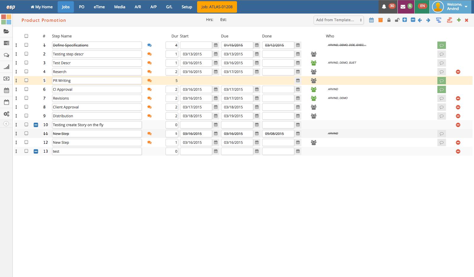 eSilentPARTNER Software - Predefined Schedule Templates