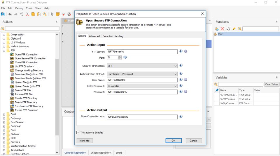 WinAutomation FTP automation