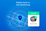 Sine screenshot: Geofence your site for a quicker check in