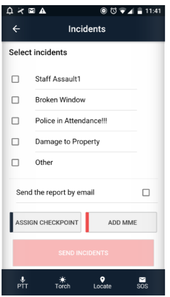 QR-Patrol incident management