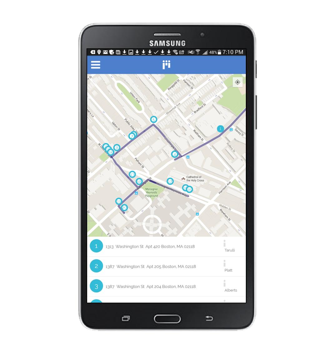 Polis Software - Walk list