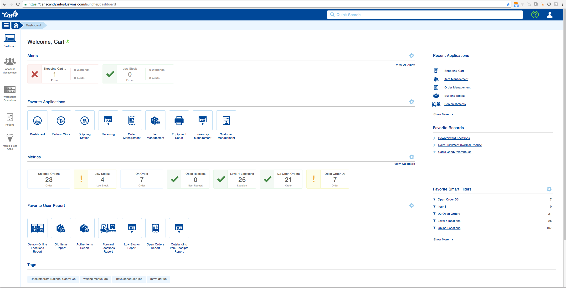 Infoplus Software - User dashboard %>