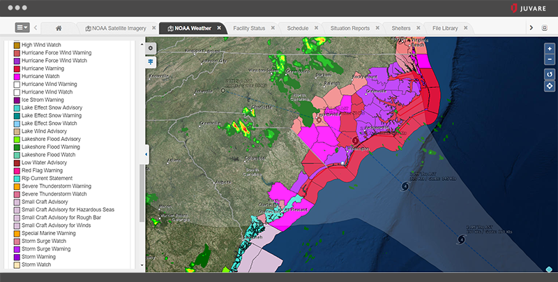 WebEOC Software - WebEOC weather report