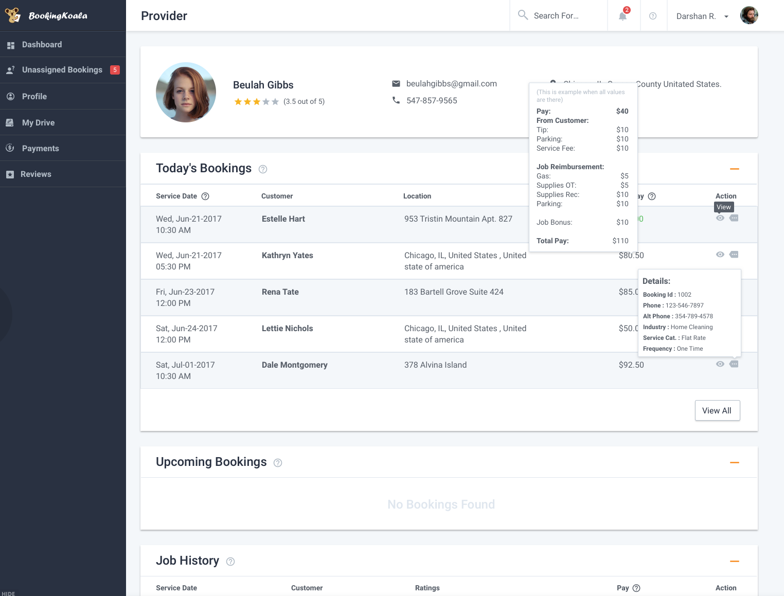 BookingKoala Software - Provider information