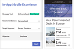 Dynamic Yield screenshot: Give mobile app users a personalized experience with segmentation and messaging