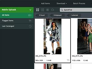 Extensis Portfolio screenshot: Easy mobile upload
