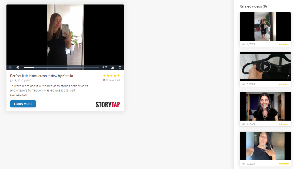 StoryTap Software - StoryTap video landing page