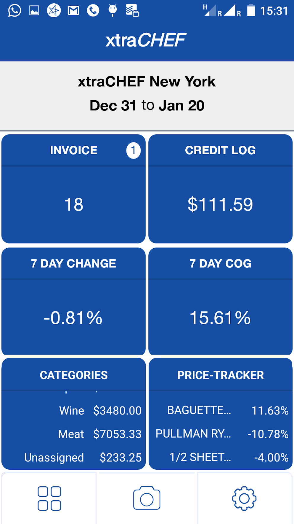 With the xtraCHEF mobile app users can track sales and finances