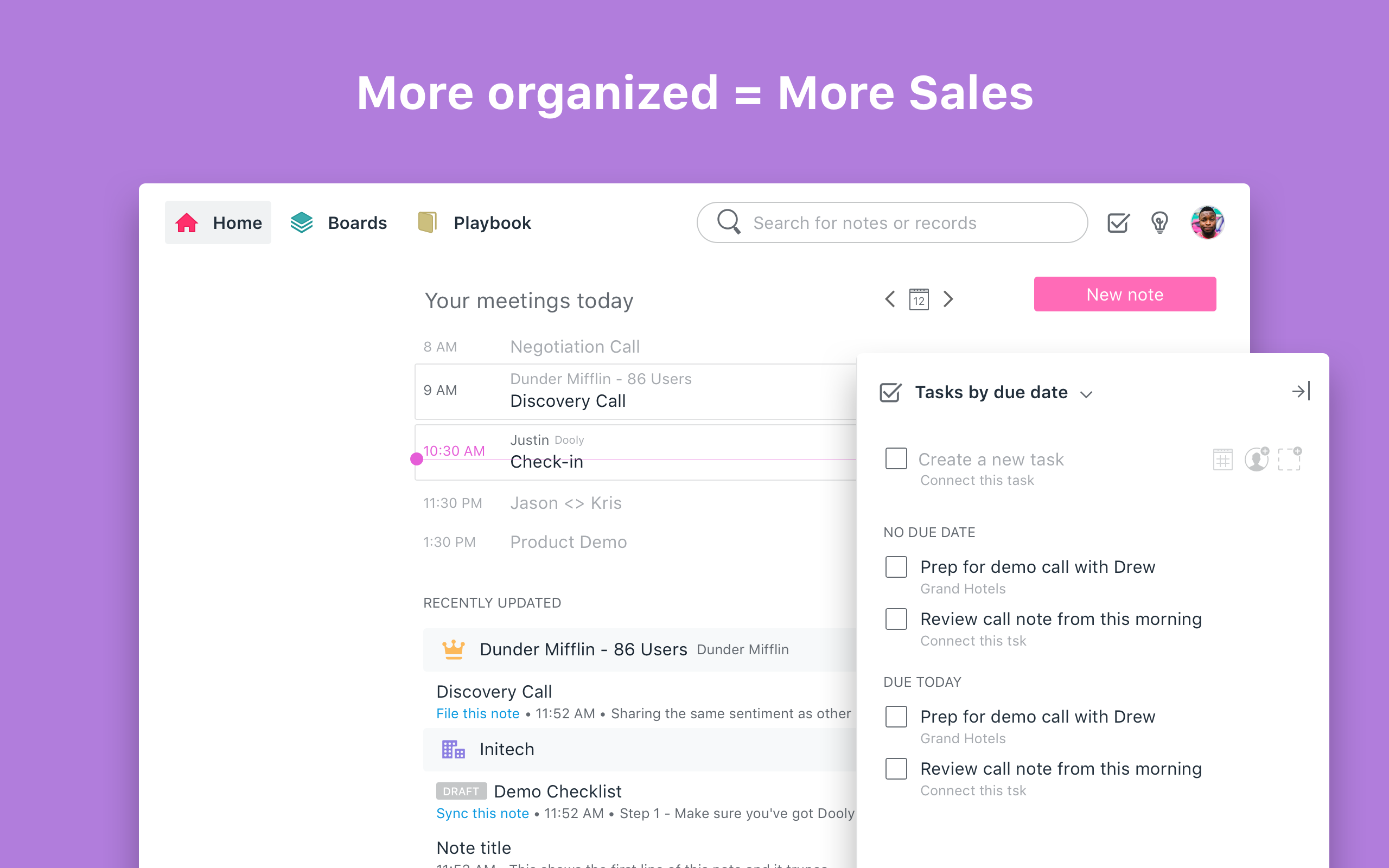 Dooly Software - Tame task chaos. Quickly capture Salesforce tasks right from your Dooly notes.