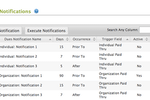 AMO screenshot: Automatic renewal notices can be sent directly from AMO to save time and increase consistency during renewals