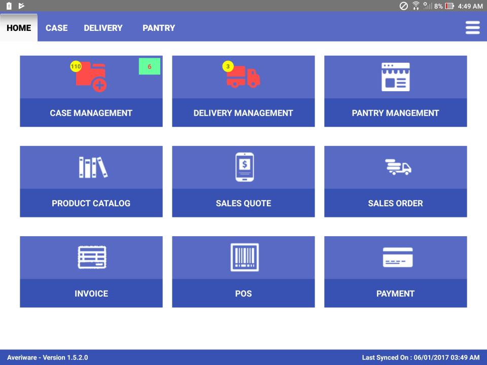 Averiware Software - Mobile app - Field Service