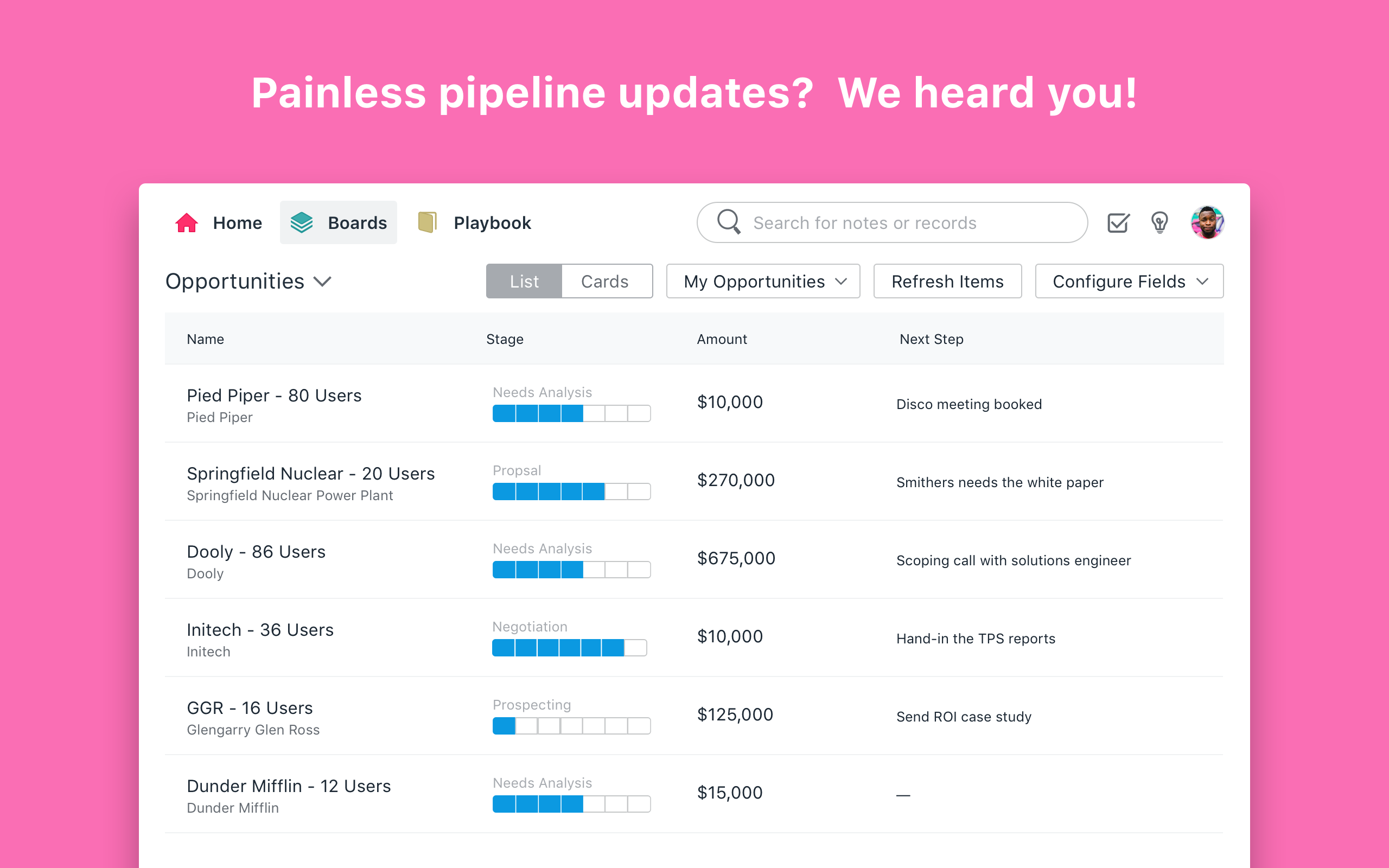 Dooly Software - Get a lifeline for your pipeline. Update anything you could in Salesforce 10x faster from one easy place.