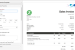 Zoho Invoice screenshot: Zoho Invoice - Customize Invoice