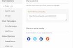 Captura de pantalla de Zoho Forms: sharing-web