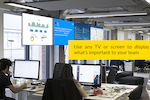Capture d'écran pour ScreenCloud : Useful for internal organizational comms, the solution allows commercial TV platforms, screens and devices to be used as digital signage displays