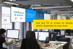 ScreenCloud screenshot: Useful for internal organizational comms, the solution allows commercial TV platforms, screens and devices to be used as digital signage displays