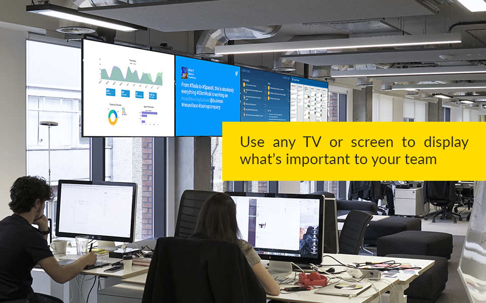 ScreenCloud Software - Useful for internal organizational comms, the solution allows commercial TV platforms, screens and devices to be used as digital signage displays
