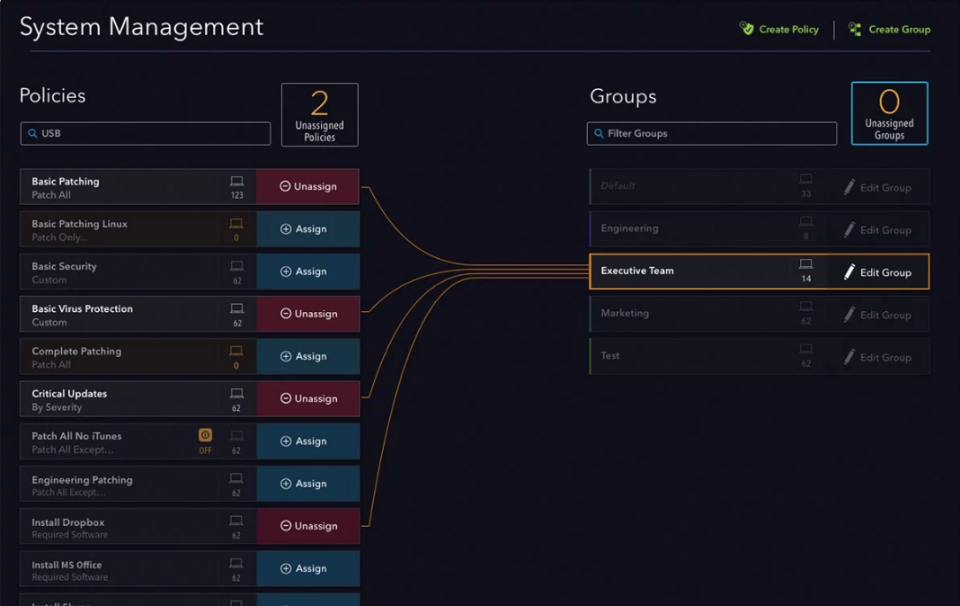 System Management Page
