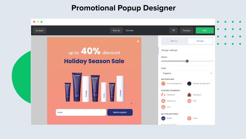 MailerLite Software - Promotional Popup Designer