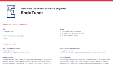 Interview guide