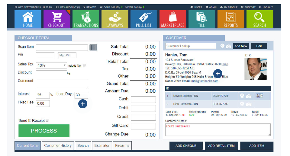 Process transactions easily with an intuitively-designed POS system