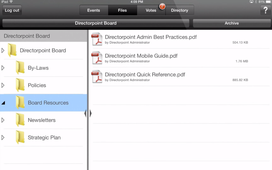 Access files directly and sort them in folders