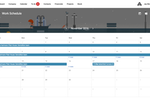 Captura de tela do Archdesk: Choose to preview a project schedule as a list or as an intuitive calendar of operations instead