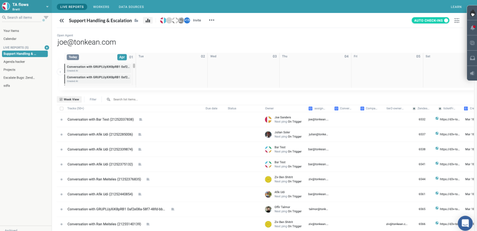 Track and manage all activity from a central dashboard