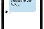 Capture d'écran pour ALICE Receptionist : Employees receive notifications when one of their visitors has arrived and checked-in