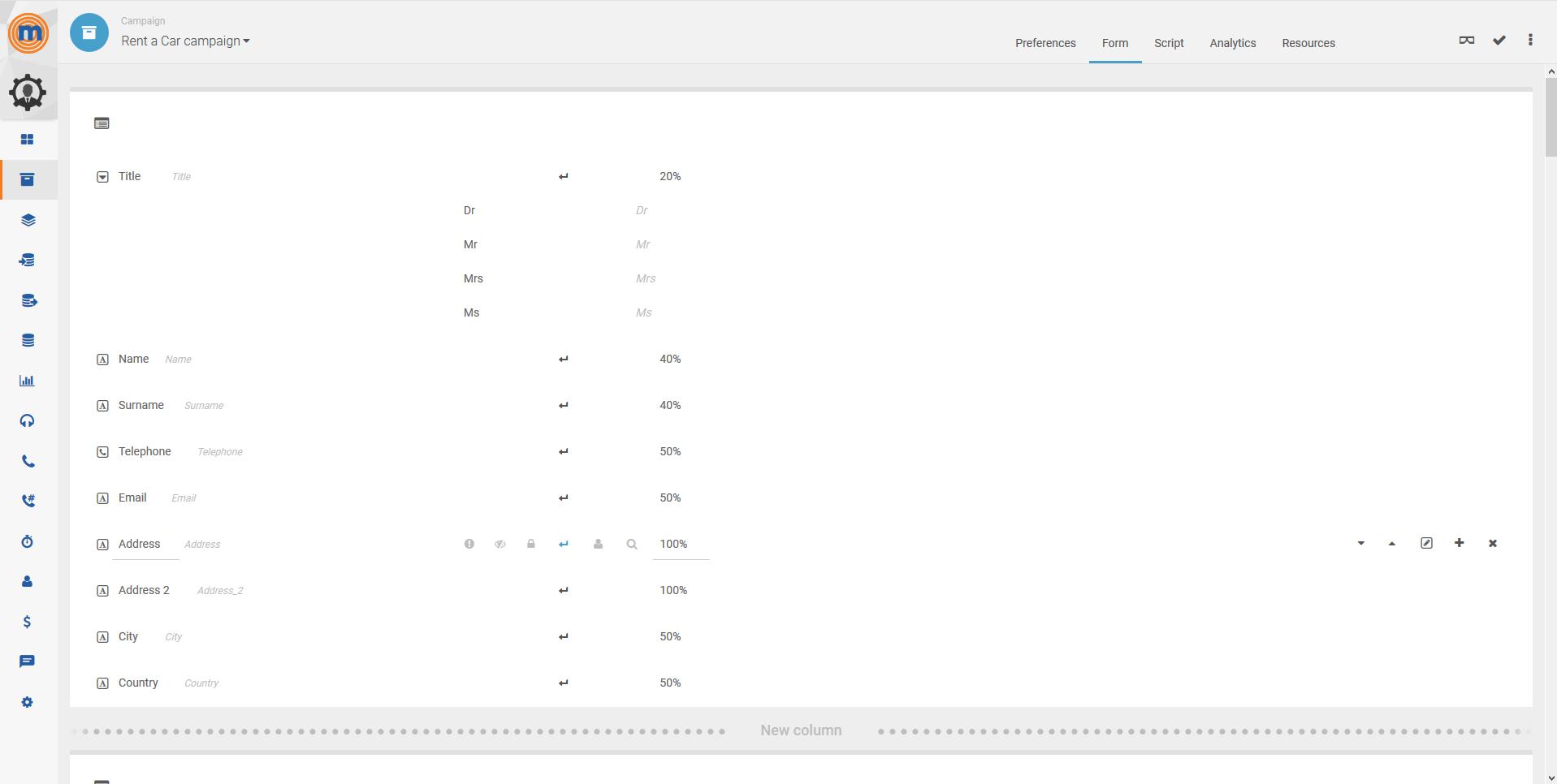 MegaDialer form screenshot