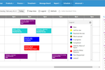 FieldEZ screenshot: Intuitive and highly functional Gantt chart scheduler, with daily, weekly and map-based views