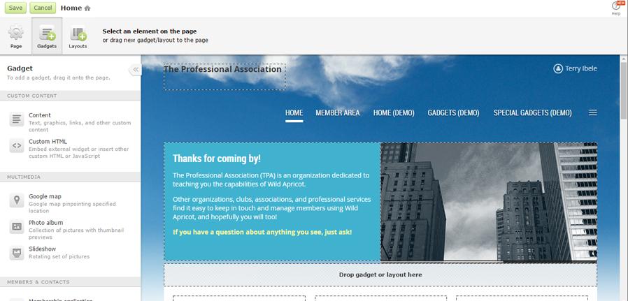 WA Website Builder Screenshot