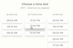 Capture d'écran pour Fons : Personalized online booking links for clients to click through on